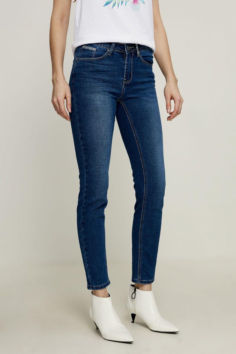 Джинсы женские Zarina, цвет: синий. 8225451741101. Размер 42 джинсы женские zarina цвет синий 8224437737103 размер 42