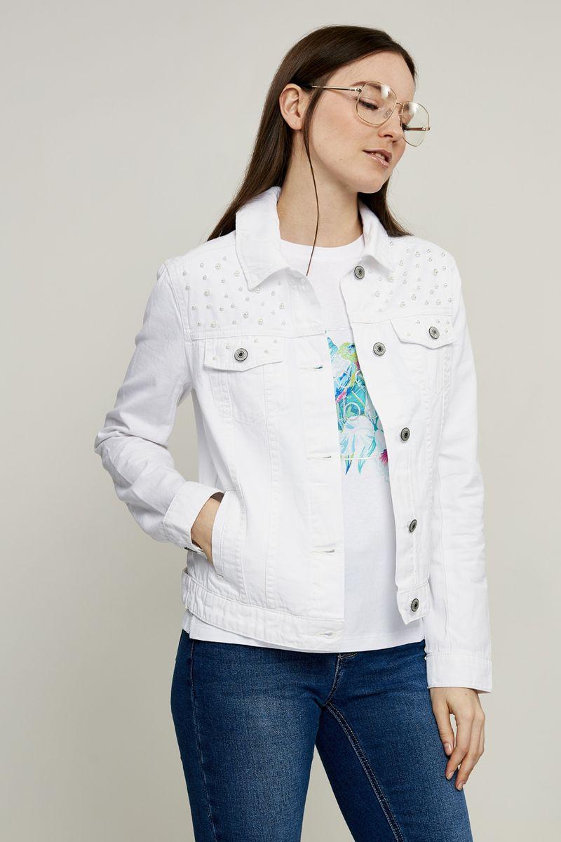 Куртка женская Zarina, цвет: белый. 8224444644001. Размер
