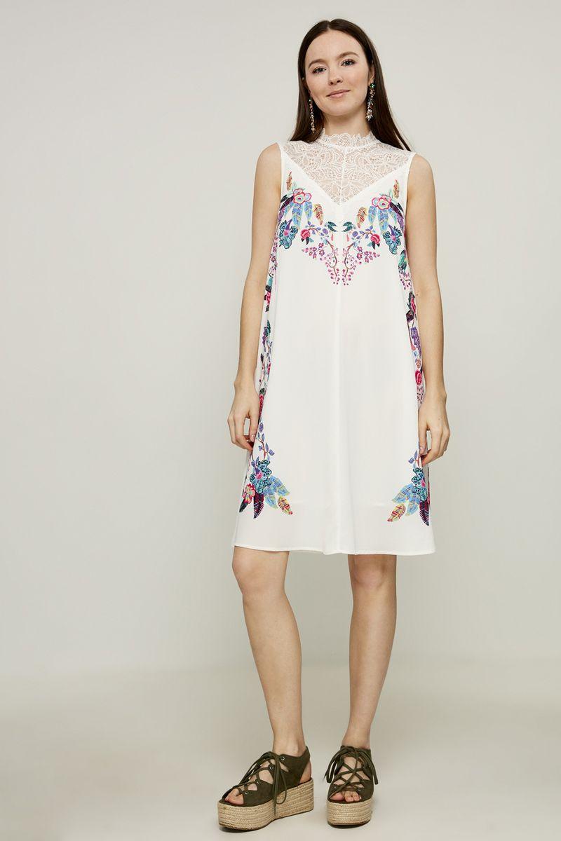 Платье Zarina, цвет: белый. 8225019519001. Размер 48 брюки zarina zarina za004ewxrm01
