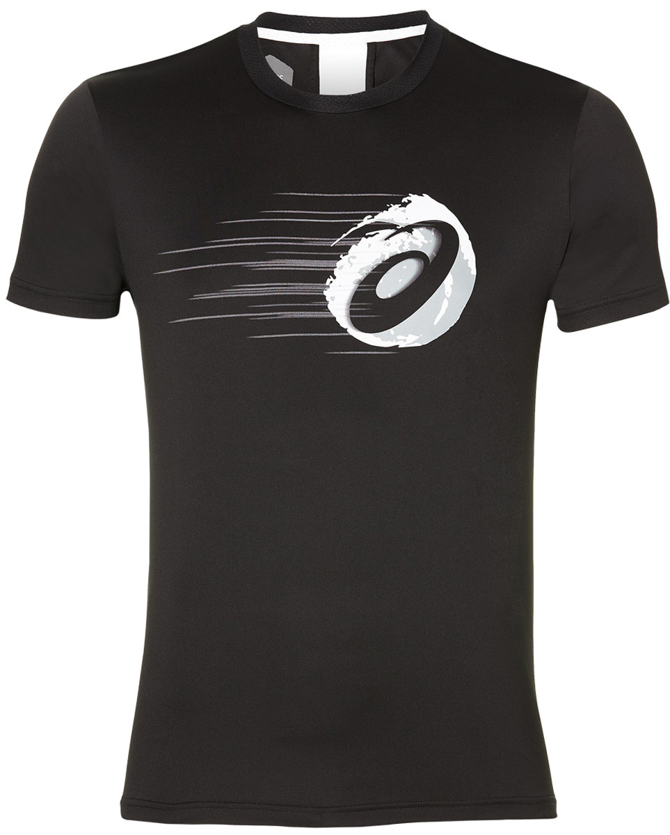 Футболка мужская Asics Gpx Ss Top, цвет: черный. 154412-0904. Размер XXL (52)