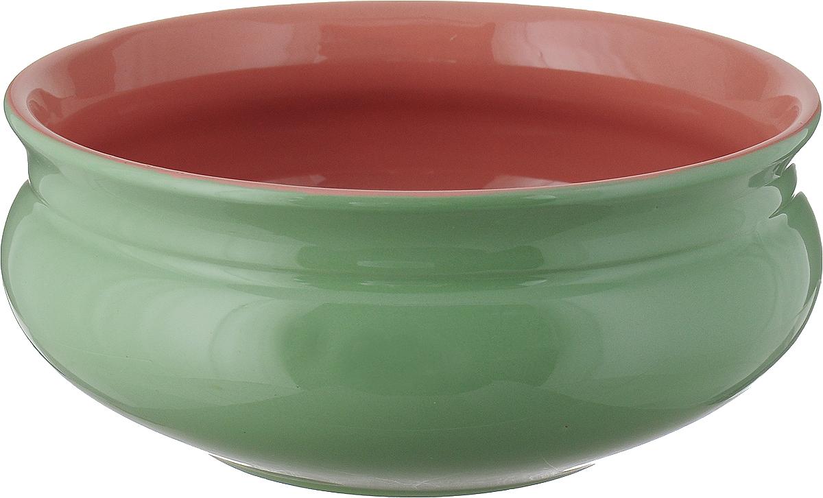 Тарелка глубокая Борисовская керамика Скифская, цвеит: мятный, розовый, 800 мл тарелка water melon 18см глубокая керамика