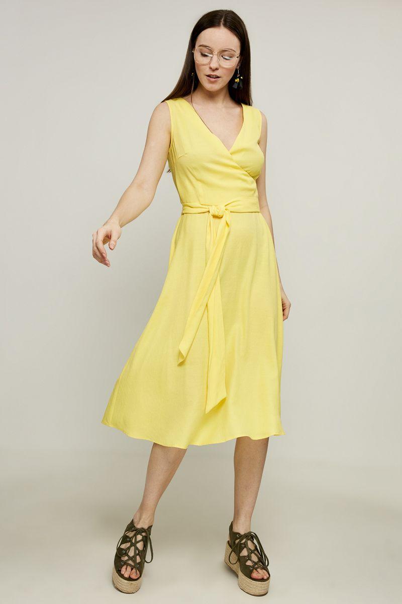 Платье Zarina, цвет: желтый. 8225008508009. Размер 52 платье lavela цвет белый желтый