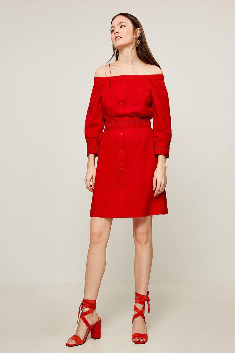 Платье Zarina, цвет: красный. 8225007507070. Размер 50 платье zarina цвет синий 8123002502056 размер 50