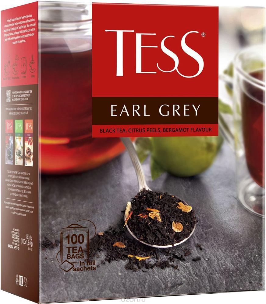 Tess Earl Grey черный чай с ароматом бергамота в пакетиках, 100 шт0986-10В кафе, ресторанах чай в пакетиках является более востребованным, чем листовой по сравнению с потреблением в домашних условиях. Tess предлагает специально для предприятий сегмента HoReCa популярные сорта черного чая. Черный чай с лучших плантаций, оригинальные чайные композиции с ягодами, фруктами, лепестками цветов и душистыми травами. Черный чай с ароматом бергамота и цедрой цитрусовых.Идеально сбалансированный купаж лучших сортов чая, выращенного на всемирно известных плантациях, становится основой Тесс Эрл Грей. Хорошо выраженный аромат бергамота, усиленный горьковатыми нотами лаймовой цедры и сладковатой «искоркой» апельсина, придает о собую выразительность чайного букету.