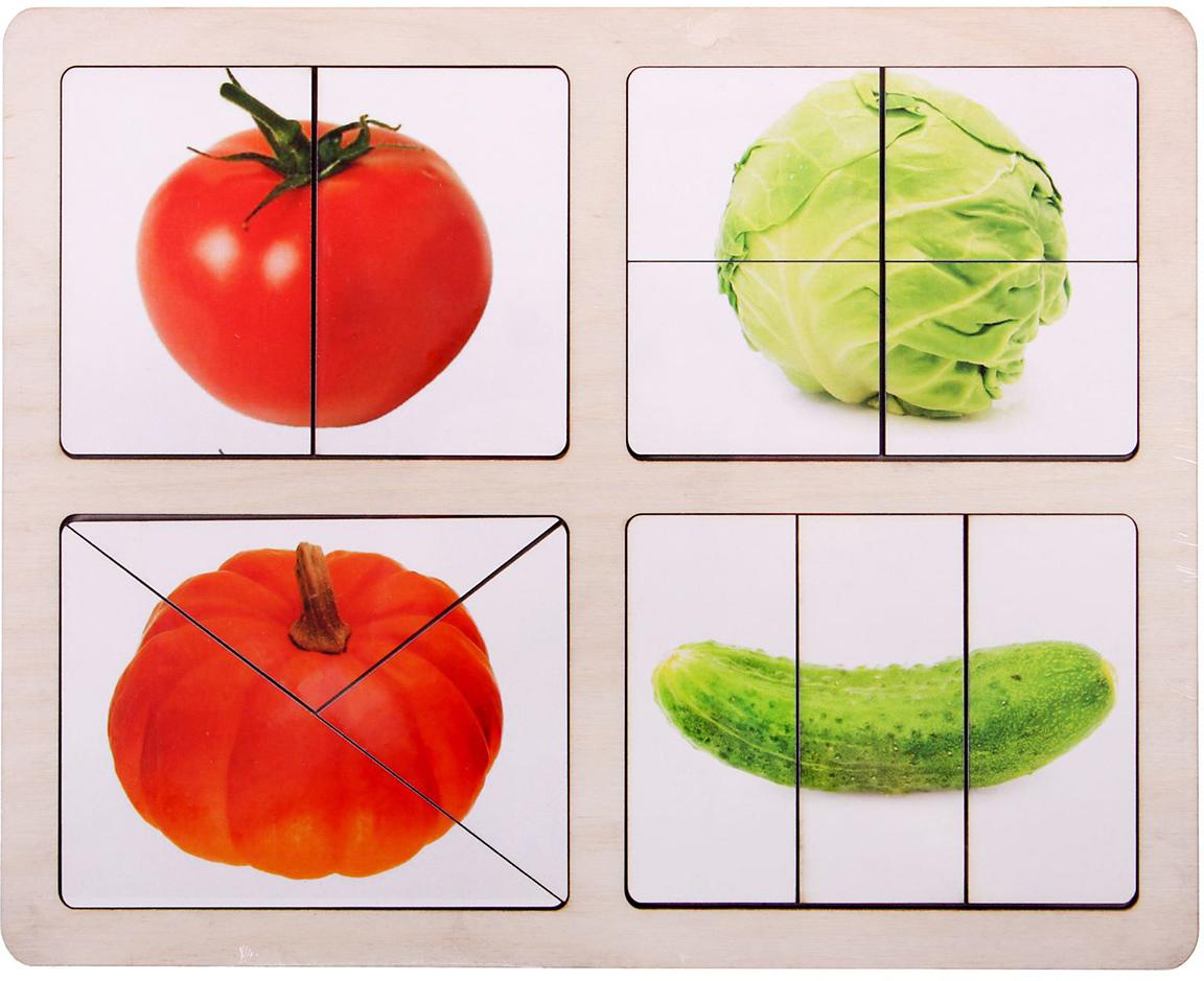 Smile Decor Обучающая игра Разрезные картинки Овощи-1