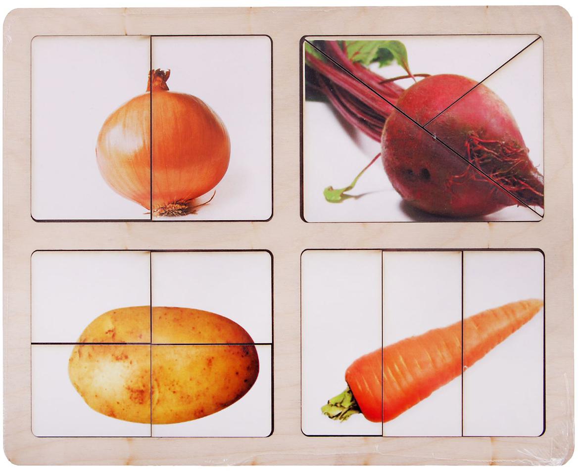 Smile Decor Обучающая игра Разрезные картинки Овощи-2 smile decor обучающая игра секретики овощи