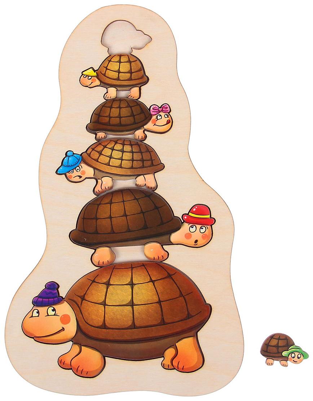 Smile Decor Обучающая игра Рамка-вкладыш Черепашки smile decor обучающая игра волшебный комодик
