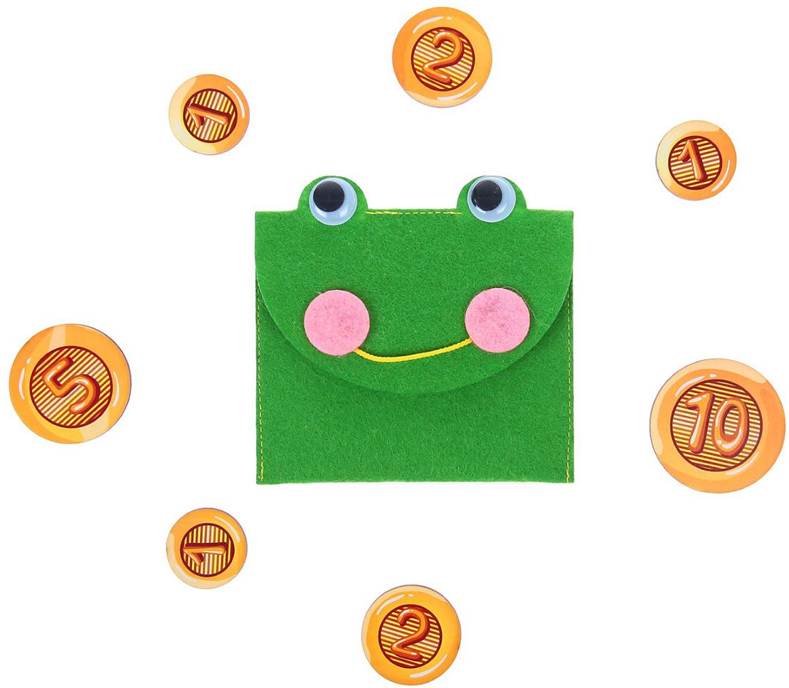 Smile Decor Обучающая игра Кошелек с монетами Лягушка smile decor обучающая игра машины цвет голубой