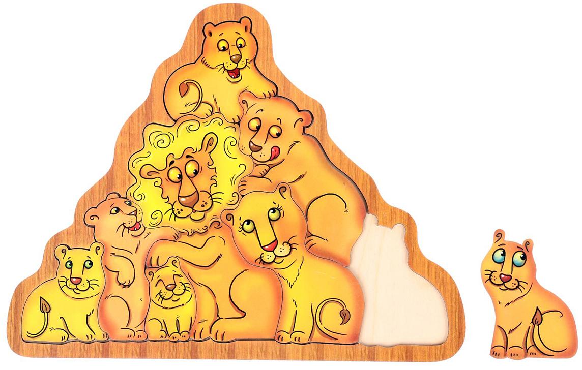 Smile Decor Обучающая игра Головоломка Львы smile decor обучающая игра машины цвет голубой