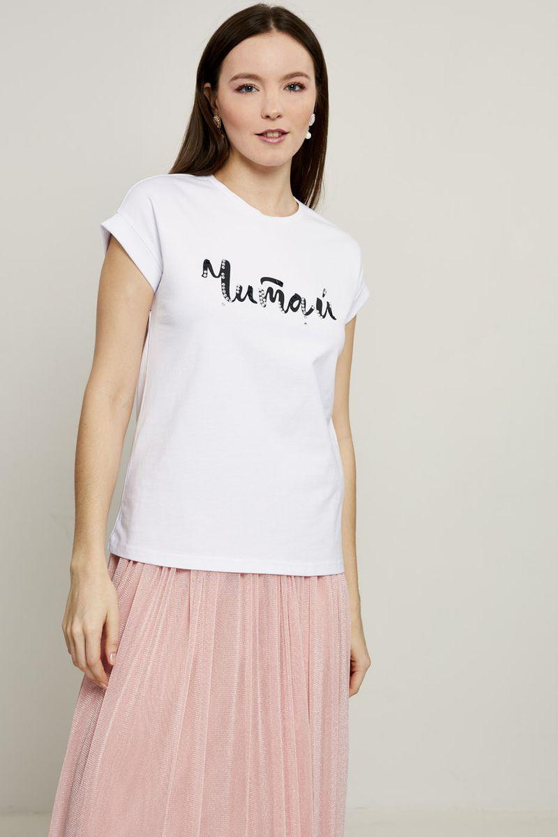 Футболка женская Zarina, цвет: разноцветный. 8224523423056. Размер XL (50) блузка женская zarina цвет розовый 8224507407094 размер xl 50