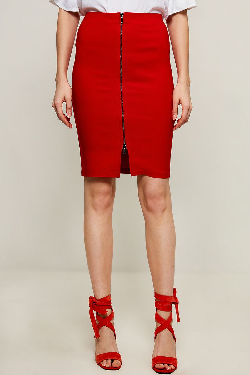 Юбка Zarina, цвет: красный. 8225218205070. Размер 52 юбка alina assi цвет красный