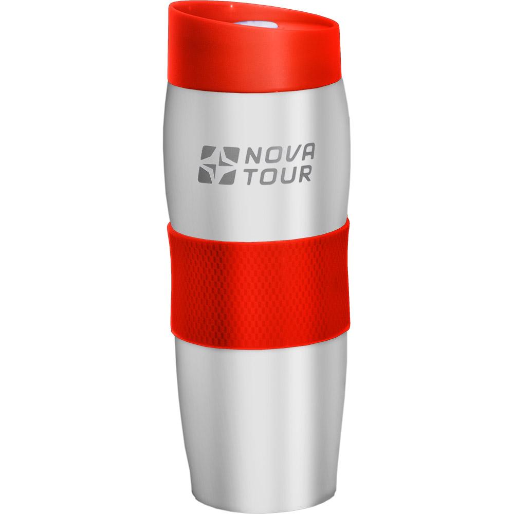 Термокружка Nova Tour Драйвер 360, цвет: светло-серый, красный, 360 мл термокружка с крышкой 360 мл