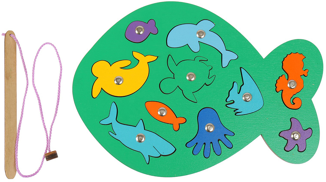 Smile Decor Обучающая игра Магнитная рыбалка Рыбка цвет зеленый smile decor обучающая игра машины цвет голубой