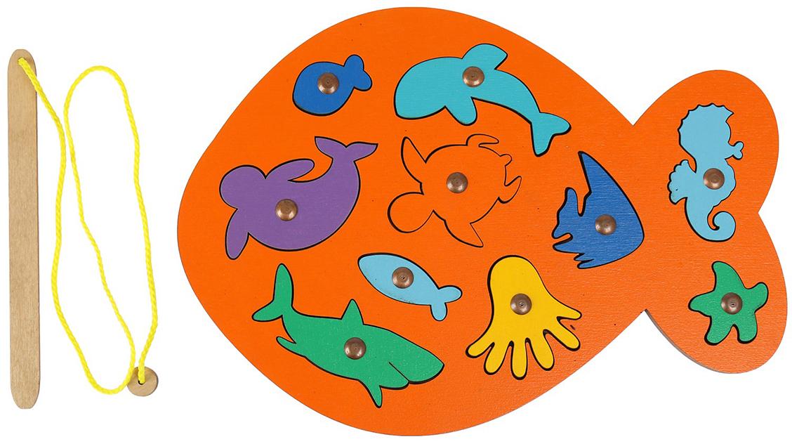 Smile Decor Обучающая игра Магнитная рыбалка Рыбка цвет оранжевый smile decor обучающая игра машины цвет голубой