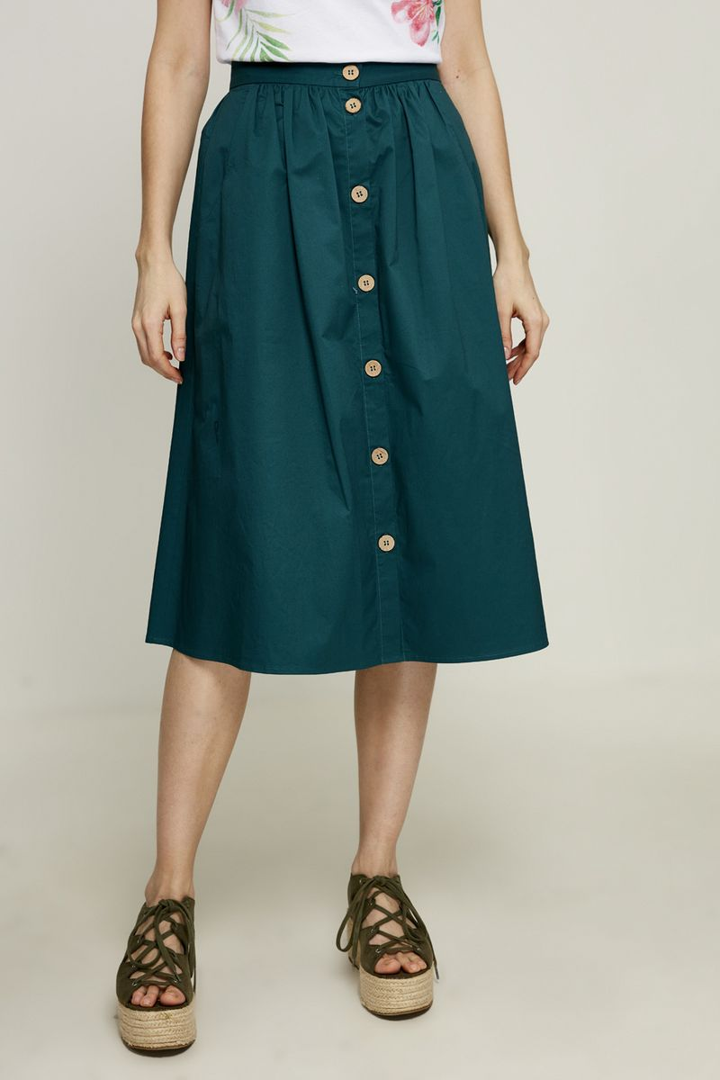 Юбка Zarina, цвет: темно-зеленый. 8225223201017. Размер 46 юбка zarina цвет темно зеленый 8224206203017 размер 50
