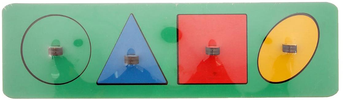 Smile Decor Обучающая игра Рамки-вкладыши Геометрические фигуры цвет зеленый smile decor обучающая игра машины цвет голубой