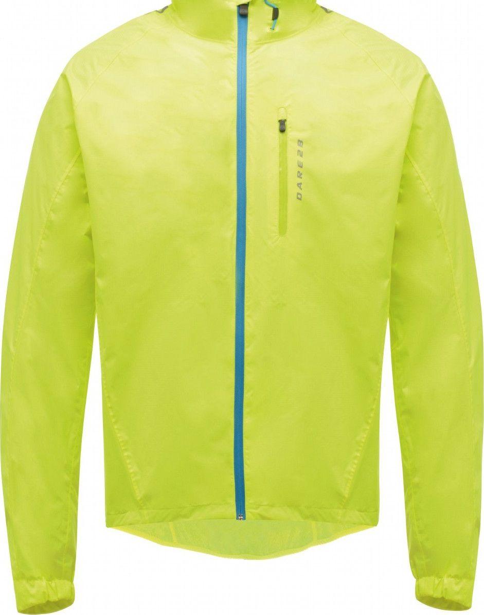 Велокуртка мужская Dare 2b Mediator Jacket, цвет: желтый. DMW361-0M0. Размер XXL (58/60)DMW361-0M0Мужская велокуртка Dare 2b Mediator Jacket выполнена из Ared 5000. Это легкий, водостойкий, дышащий полиэстеровый материал повышенной прочности типа рипстоп.Особенности: Водоотталкивающее покрытие.Проклеенные швы.Высокотехнологичная водоотталкивающая передняя молния с автостопором и с внутренней защитной планкой.Регулируемый ворот. Воротник с подкладкой из мягкой холщевой ткани.Анатомический крой рукава. Дышащие вставки в области подмышек. 1 водоотталкивающий нагрудный карман на молнии с язычком, снабженным автостопором.1 задний карман на молнии.Сетчатая подкладка.Низ регулируется шнурком.Технология светоотражения Bio Motion. Размер: XXL (58/60).