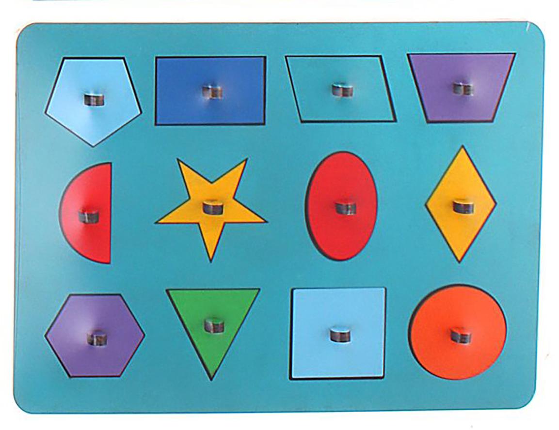 Smile Decor Обучающая игра Рамки-вкладыши Монтессори Геометрия цвет голубой smile decor обучающая игра машины цвет голубой