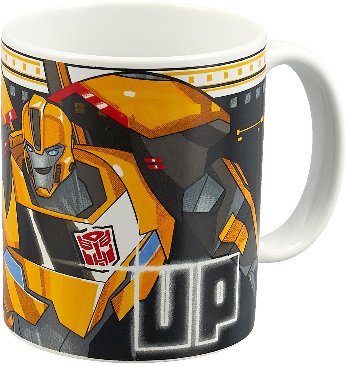 Transformers Кружка детская Роботы под прикрытием Team up 350 мл hasbro transformers b0067 трансформеры роботы под прикрытием гиперчэндж в ассортименте