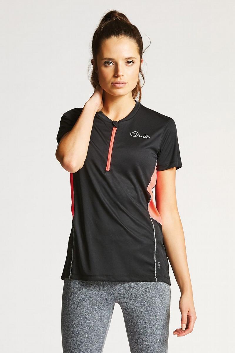 Веломайка женская Dare 2b Assort Jersey, цвет: черный. DWT402-800. Размер 16 (48/50) футболка dare 2b