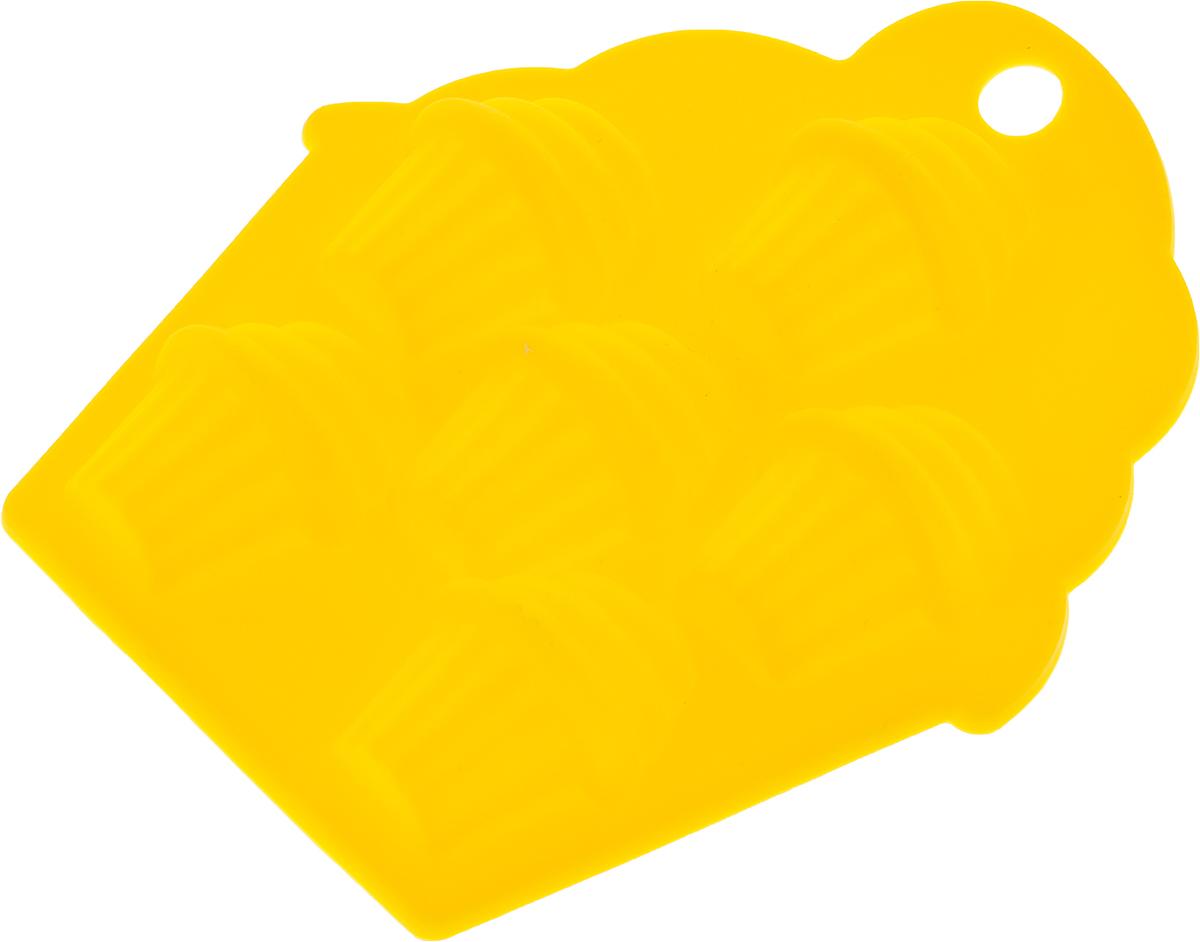 "Форма для льда ""Primani"", цвет: желтый, 13 х 12,5 х 1,5 см"
