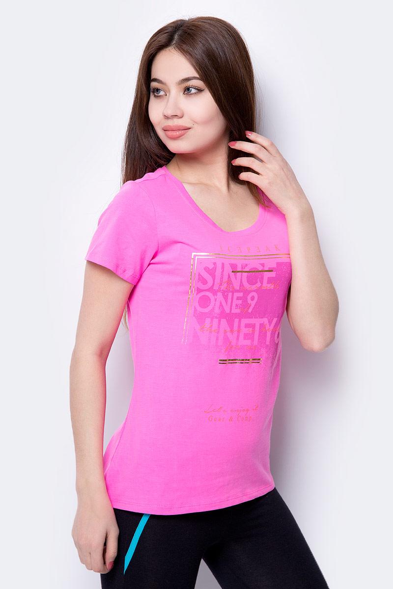 Футболка женская Icepeak, цвет: розовый. 954774514IV_661. Размер 40 (46)