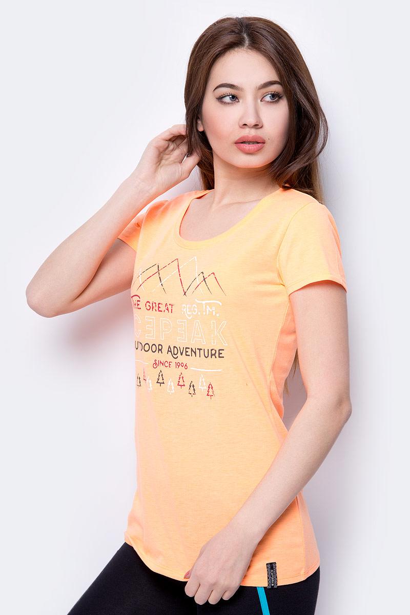 Футболка женская Icepeak, цвет: оранжевый. 954757689IV_448. Размер 42 (48) футболка с полной запечаткой женская printio весенняя роза