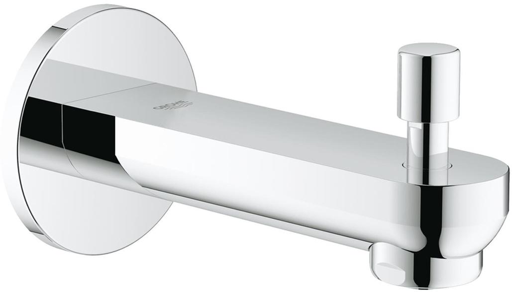 """Излив для ванны с настенным монтажом. Хромированная поверхность. Аэратор, автоматический переключатель: ванна/душ,  внешняя резьба 1/2"""", вынос 170 мм."""