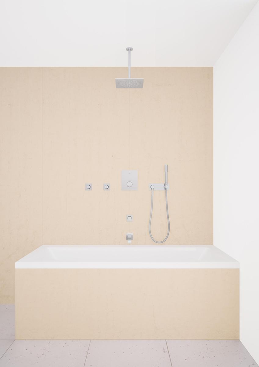 Излив для ванны с настенным монтажом. Хромированная поверхность. Вынос 172 мм, аэратор, минимальное давление 1,0 бар.