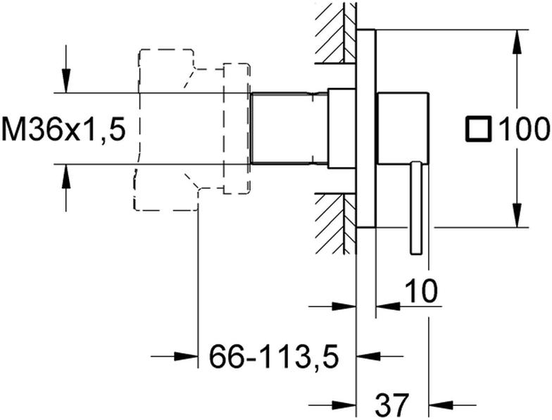 """Переключатель на 5 положений """"Allure"""". Комплект верхней монтажной части для. Без встраиваемого механизма. У переключателя завинчивающаяся розетка, плавная регулировка глубины монтажа.   Диаметр 66 - 113 мм. Использовать только с встраиваемым механизмом. У переключателя  хромированная поверхность."""