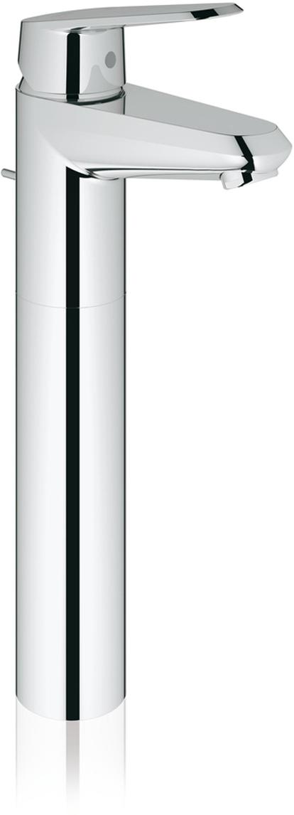 """Монтаж на одно отверстие.Металлический рычаг.Для свободностоящих раковин.GROHE SilkMove керамический картридж 35 мм.Регулировка расхода воды.Возможность установки минимального расхода 2,5 л/мин.GROHE StarLight хромированная поверхность.GROHE QuickFix Plus монтажная система с центрирующей направляющей.Сливной гарнитур 1 1/4"""".Гибкая подводка.Дополнительный ограничитель температуры (46 375 000).Класс шума I по DIN 4109."""