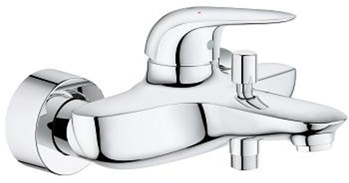 """Смеситель для ванны """"Eurostyle"""". Подходит настенный монтаж.  В комплекте металлический рычаг (без отверстия), керамический картридж 35 мм,  ограничитель температуры. Хромированная поверхность.  Есть регулировка расхода воды, автоматический переключатель: ванна/душ, аэратор, встроенный запорный клапан в душевом отводе 1/2"""", скрытые S-образные эксцентрики, с защитой от обратного потока, отражатель из металла."""