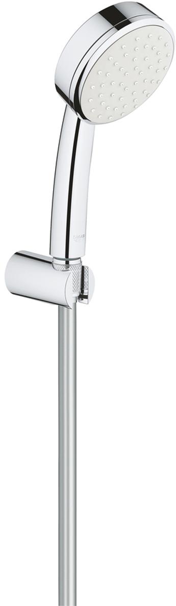 """Душевой набор включает в себя: ручной душ; настенный держатель без регулировки; душевой шланг Relexaflex 1500 мм 1/2"""" x 1/2"""". Хромированная поверхность. У душевого набора превосходный поток воды с системой SpeedClean против известковых отложений. Внутренний охлаждающий канал для продолжительного срока службы. Может использоваться с проточным водонагревателем. Минимальное давление 1,0 бар."""