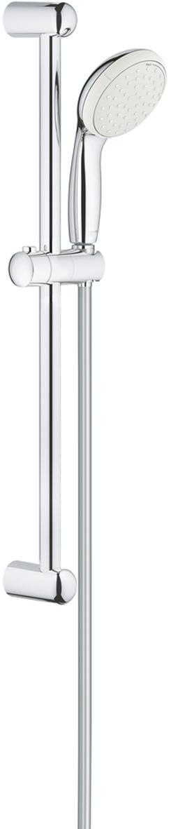 """включает в себя:ручной душ (26 161)душевая штанга, 600 мм (27 523)душевой шланг Relexaflex 1750 мм 1/2"""" x 1/2"""" (28 154)GROHE EcoJoy ограничитель расхода воды 9,5 л/минGROHE DreamSpray превосходный поток водыGROHE StarLight хромированная поверхностьс системой SpeedClean против известковых отложенийShockProof силиконовое кольцо, предотвращающееповреждение поверхности при падении ручного душаВнутренний охлаждающий канал для продолжительного срока службыможет использоваться с проточным водонагревателемминимальное давление 1,0 бар"""