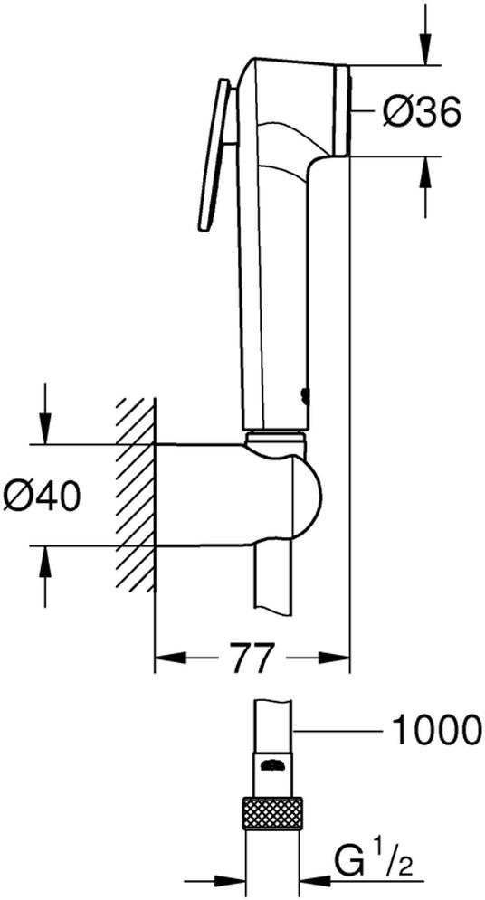Душевой набор включает в себя: ручной душ с клавишей управления; настенный держатель ручного душа; Silverflex Longlife душевой шланг 1000 мм. Хромированная поверхность с системой SpeedClean против известковых отложений. Внутренний охлаждающий канал для продолжительного срока службы. Twistfree против перекручивания шланга. Минимальное давление 1,0 бар.