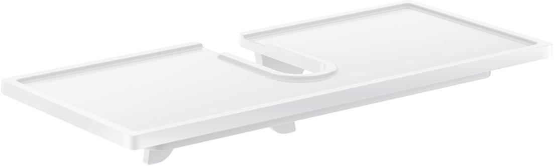 На эту полку вы сможете положить мыло и другие принадлежности ванной комнаты. Благодаря компактным размерам полка впишется в интерьер вашего дома и позволит вам удобно и практично хранить предметы домашнего обихода. Оригинальный дизайн изделия, несомненно, украсит ваш интерьер. Для душевых систем Euphoria и New Tempesta с термостатомразмер по осям 150 мм