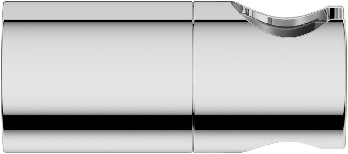 Настенный держатель для душа регулируемый. Изготовлен из металла.  У держателя хромированная поверхность.