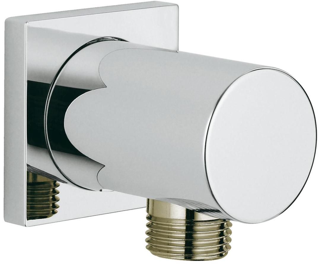 Подключение для душевого шланга GROHE Rainshower neutral. 2707600027076000Подключение для душевого шланга Rainshower neutral. Внешняя резьба. У подключения квадратная розетка.С защитой от обратного потока. У подключения хромированная поверхность.