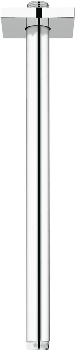 """Кронштейн душевой потолочный GROHE """"Rainshower neutral"""" из металла. Резьбовое соединение 1/2"""". С квадратной розеткой. Для использования со всеми верхними душами Rainshower. Хромированная поверхность."""