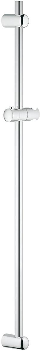 Душевая штанга с держателем, скользящим элементом и поворотным держателем. Регулируемое расстояние между настенными креплениями штанги позволяет использовать для монтажа уже имеющиеся отверстия в стене. У штанги хромированная поверхность.