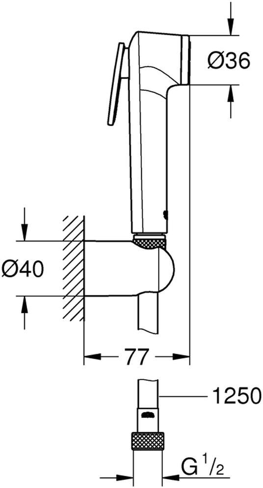 Душевой набор включает в себя: ручной душ с клавишей управления; настенный держатель ручного душа; Silverflex Longlife душевой шланг 1250 мм. Хромированная поверхность с системой SpeedClean против известковых отложений. Внутренний охлаждающий канал для продолжительного срока службы. Twistfree против перекручивания шланга. Минимальное давление 1,0 бар.
