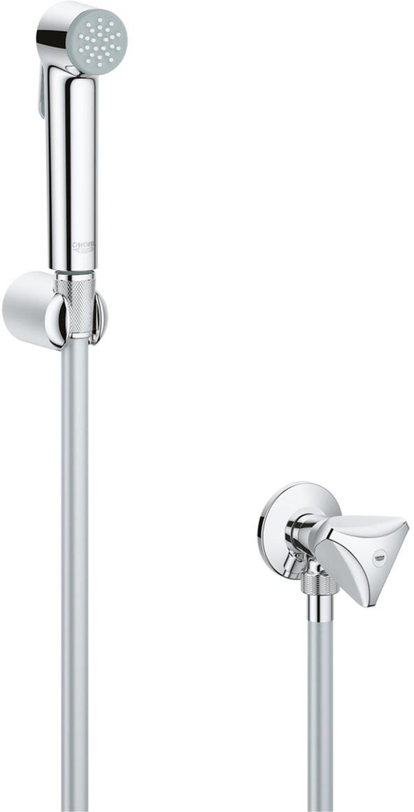 Душевой набор GROHE Tempesta-F, с гигиеническим душем и угловым вентилем. 27514001 шланг душевой grohe 28362000 silverflex 1250 мм