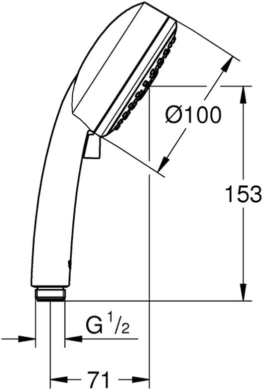 GROHE Rain O2, Rain, MassageGROHE EcoJoy ограничитель расхода воды 9,5 л/минGROHE DreamSpray превосходный поток водыGROHE StarLight хромированная поверхностьс системой SpeedClean против известковых отложенийВнутренний охлаждающий канал для продолжительного срока службыуниверсальное крепление, подходящее к любому стандартному шлангуможет использоваться с проточным водонагревателемминимальное давление 1,0 бар