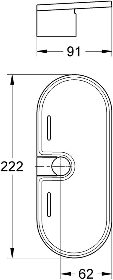 """Мыльница Grohe """"New Tempesta Classic"""", очень практична и функциональна. Акрилдля душевых штанг New Tempesta и Euphoria O 22 мм."""