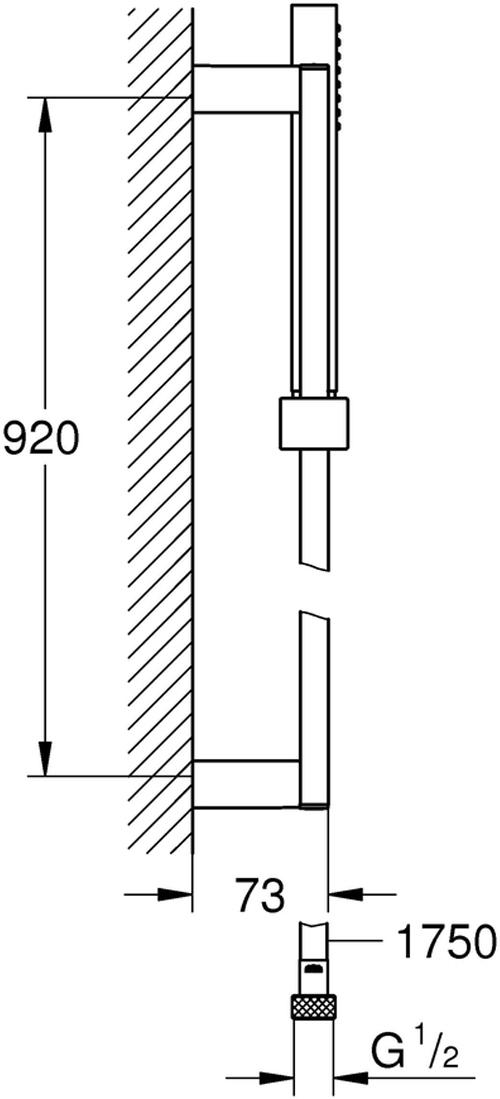 включает в себя:Ручной душ (27 698 000)душевая штанга 900 мм (27 841 000)душевой шланг 1750 мм (28 388 000)GROHE DreamSpray превосходный поток водыGROHE StarLight хромированная поверхностьс системой SpeedClean против известковых отложенийВнутренний охлаждающий канал для продолжительного срока службыTwistfree против перекручивания шлангаможет использоваться с проточным водонагревателем