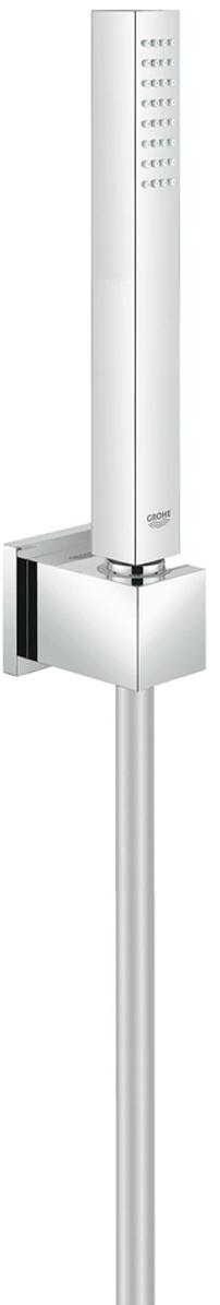 Душевой гарнитур включает в себя: ручной душ ; настенный держатель; душевой шланг  1250 мм. Ограничитель расхода воды 9,5 л/мин. У душа превосходный поток воды. Хромированная поверхность с системой SpeedClean против известковых отложений.Внутренний охлаждающий канал для продолжительного срока службы.Twistfree против перекручивания шланга. Может использоваться с проточным водонагревателем.