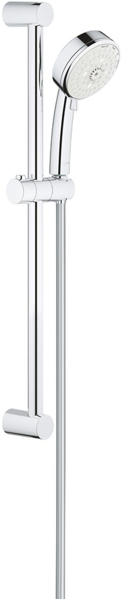 Душевой гарнитур GROHE New Tempesta Cosmopolitan. 2778700227787002Душевой гарнитур включает в себя: ручной душ; душевая штанга 600 мм;душевой шланг Relexaflex 1750 мм 1/2 x 1/2.У душа превосходный поток воды. Хромированная поверхность с системой SpeedClean против известковых отложений. Внутренний охлаждающий канал для продолжительного срока службы. Может использоваться с проточным водонагревателем. Минимальное давление 1,0 бар.