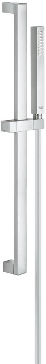 Душевой гарнитур включает в себя: ручной душ; душевая штанга 600 мм; душевой шланг 1750 мм. У душа превосходный поток воды.  Хромированная поверхность с системой SpeedClean против известковых отложений. Внутренний охлаждающий канал для продолжительного срока службы. Может использоваться с проточным водонагревателем.