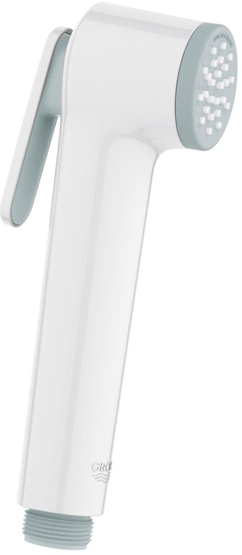 Душ с нажимной кнопкой управления. Душ с системой SpeedClean против известковых отложений.Внутренний охлаждающий канал для продолжительного срока службы.Универсальное крепление, подходящее к любому стандартному шлангу, минимальное давление 1,0 бар.