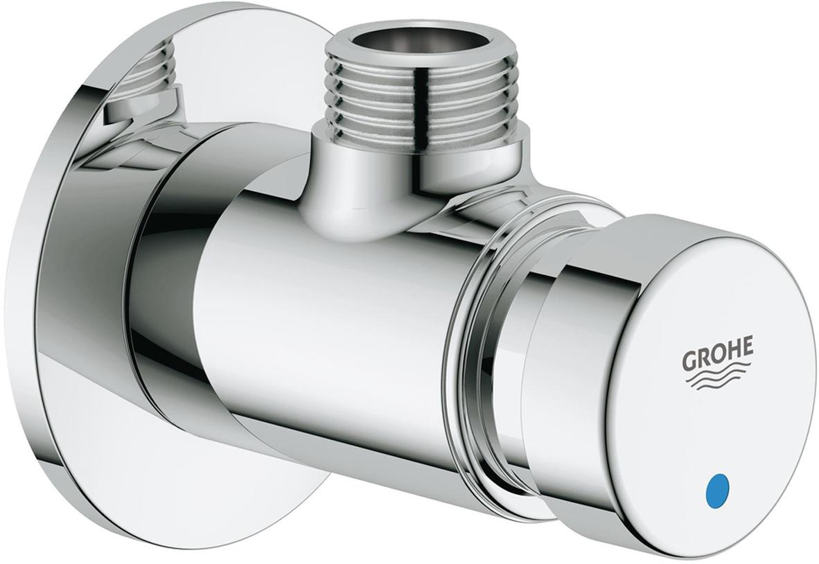 Вентиль автоматический душевой GROHE Euroeco Cosmopolitan T. 3626700036267000Вентиль автоматический душевой GROH настенный монтаж;для холодной или смешанной воды;маркировка голубая/краснаяGROHE StarLight хромированная поверхность;3 режима: короткий - средний- длинный (заводская настройка: короткий), примерно 7, 15, 30 сек. (зависит от давления);розетки;минимальное давление 1,0 бар.